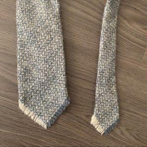 Vintage handwoven Shetland wool Scotland men tie